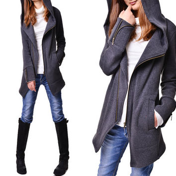 Black swan - thick cotton fleece jacket (Y3119)