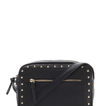 Studded Faux Leather Crossbody