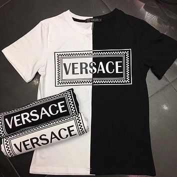 Versace Men Womens Cotton T-shirt