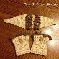 Ear Warmer/ Boot Cuff Set with Ruffles for Toddler or Child