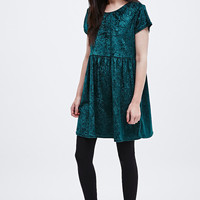 Urban Renewal Vintage Remnants Crushed Velvet Babydoll Dress in Green - Urban Outfitters