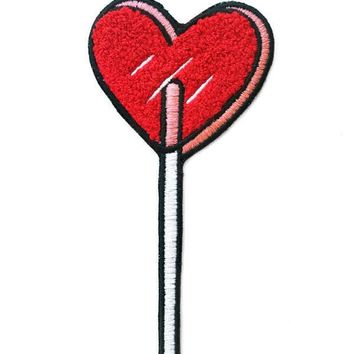 Heart Lolli Large Chenille Patch