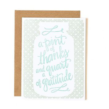 Pint of Thanks Card