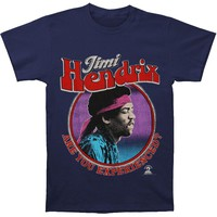 Jimi Hendrix Men's  Are You Experienced T-shirt Navy Rockabilia