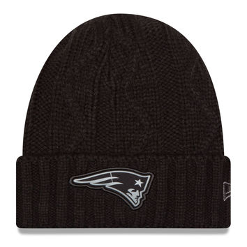 Men's New England Patriots New Era Black NFL Gray Collection Cuffed Knit Hat