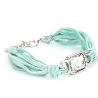 "Ettika ""Vintage Ribbon"" Turquoise-Color Bracelet Silver Rectangular Gem: Jewelry: Amazon.com"