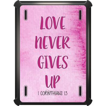 DistinctInk™ OtterBox Defender Series Case for Apple iPad - 1 Corinthians 13 - Love Never Gives Up