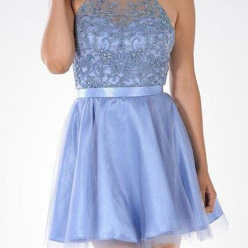 Halter Top Cocktail Homecoming 2016 Dress 101-7886 Prom dress