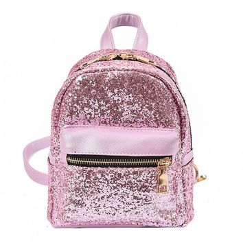 Woman Backpack Women's Shoulder Bag Mochila Feminina Teenage Girls Bling Bling College Students Fashion Traval Small Backpacks