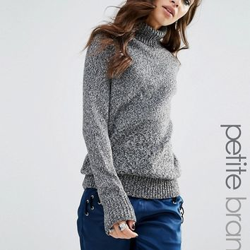 Glamorous Petite Roll Neck Knitted Sweater at asos.com
