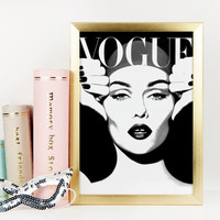 VOGUE FASHION PRINT,Vogue Magazine Cover,Vogue Fashion Illustration,More Issues Than Vogue,Fashionista,Fashion Print,Printable Art,Vogue Art