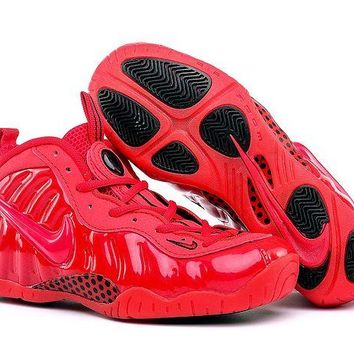 Jacklish Girls Nike Air Foamposite Pro Red October Gym Red Cheap Sale