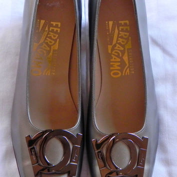 Vintage 1980's Salvatore Ferragamo Shoes Low by vintageworldrocks