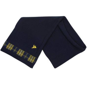 West Virginia Mountaineers Waffle Knit Infinity Scarf - Navy Blue