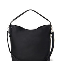 FOREVER 21 Pebbled Faux Leather Shoulder Bag