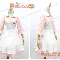 Nurse Joy Pekomon XY Costume Cosplay pink &white dress with hat