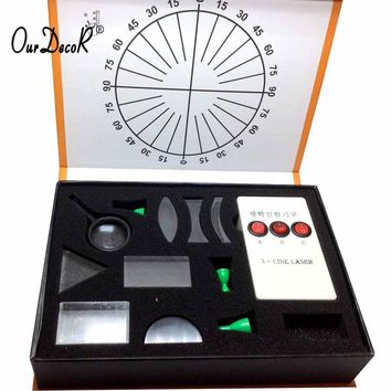 Physical Science Optical Experiments KIT Triangular Prism Convex Lens Concave Mirror Fisica Student's Optics Physics Experiment