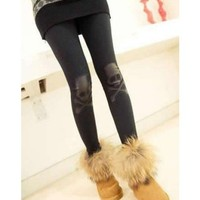 *Free Shipping* Black Elastic Cotton Legging One Size from efoxcity