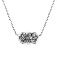 Kendra Scott : Elisa Silver Pendant Necklace in Platinum Drusy