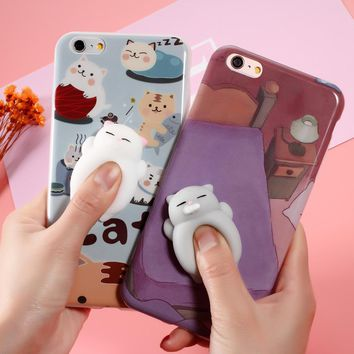 Squishy animal Phone Case For iphone 6 6plus Squishi Case Funny Cute Squishy Cases Soft Housing Cover for Apple i6 i6s i7 i7+