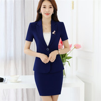 Womens business suits office ladies skirt suits set High quality plus size 2017 new ol work wear elegant female clothes