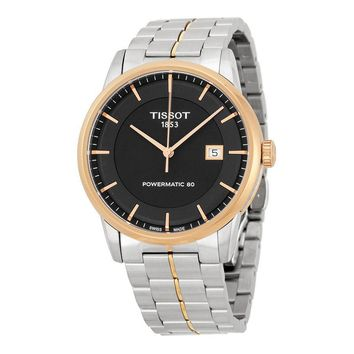 Tissot Powermatic 80 Black Dial Mens Watch T0864072205100