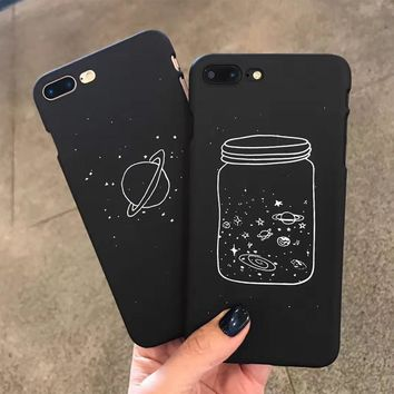 Fashion Starry Sky Case For iphone 6 Case Lovely Cartoon Cosmos Hard PC Phone Cases Cover For iphone 6S 7 7 Plus NEW