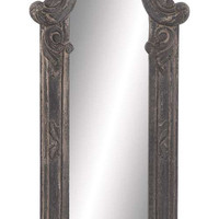 Gothic Style Wood Wall Mirror in Ash Wood Finish 37""