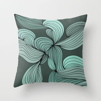 The Greens Throw Pillow by DuckyB (Brandi)