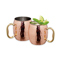 Arc International Hammered Copper Moscow Mule Mugs (Set of 2)