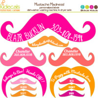 Mustache Madness Pink | kidecals