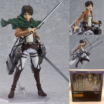 Attack on Titan Anime Figure Eren Jaeger Brinquedos PVC Action Figure Collection Model Kids Toy 15cm