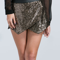 All That Glitters Sequin Skort