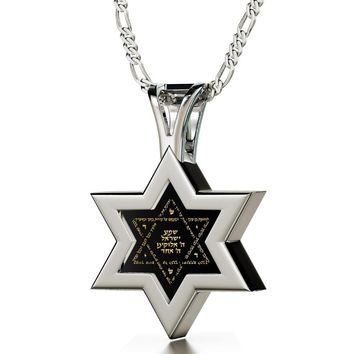 Star Of David Necklace For Men