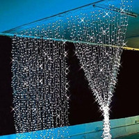 3Mx3M 300LED Outdoor Christmas Xmas String Fairy Wedding Curtain Light 220V NEW