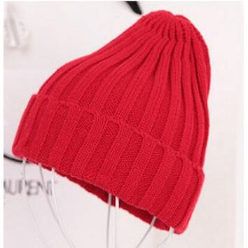 Winter  Acrylic Hat Knitted Hat Pointy Hat For Women/Ladies 19 Colors