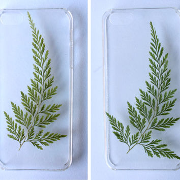 iPhone 6 / 6S / 6 Plus Case Spigen® Ultra Hybrid® Fern Pressed Flower Iphone 4/4s/5/5c/6/6s Case Clear Plant Flowers