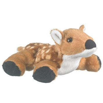"7"" White-Tail Deer Fawn Finger Puppets Stuffed Animals Conservation Collection"