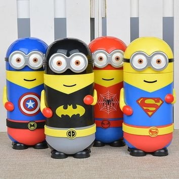 280ML Black Red Blue Yellow Minions Stainless Steel Vacuum Cup Thermo Cup Stainless Steel Water Bottle Thermo Vacuum Cup