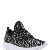 Black Keep Active Knit Sneakers