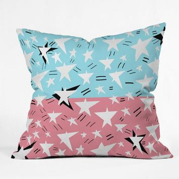 """They come in all sizes"" Star illustration Throw Pillow"