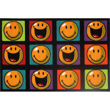 Fun Rugs Smiley World Collection Happy and Smiling Area Rug