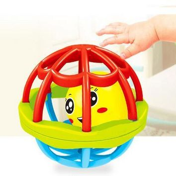 Baby early education puzzle mouth soft rubber ball baby rattles bathing toys