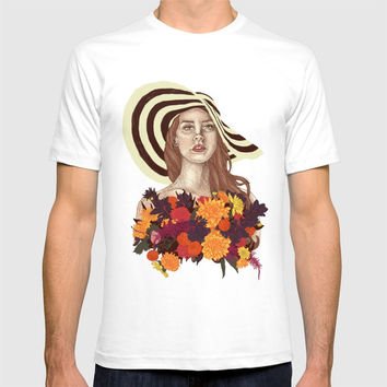 A flower between flowers // Del Rey with a bouquet T-shirt by Camila Quintana S