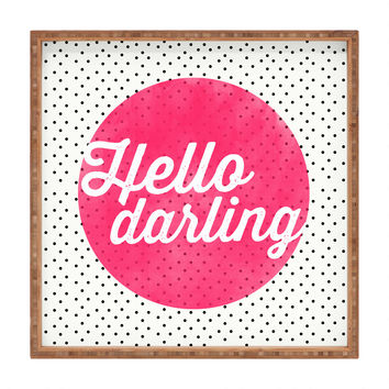 Allyson Johnson Hello Darling Dots Square Tray
