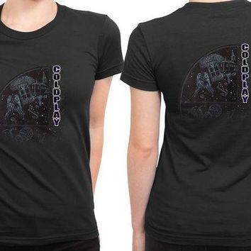 CREYH9S Coldplay Star One 2 Sided Womens T Shirt