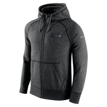 Nike AW77 Gridiron Grey Full-Zip (NFL Seahawks) Men's Hoodie