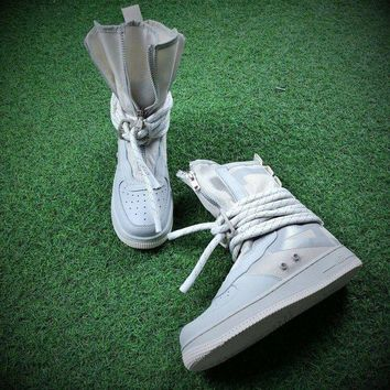 DCCKU62 Sale Newest Nike SF Air Force 1 High AF1 Beige Functional Boots AA1128-201