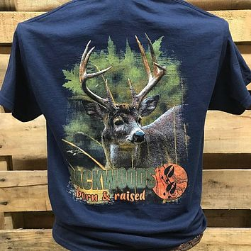 Backwoods Born & Raised Deer Buck Unisex Bright T Shirt