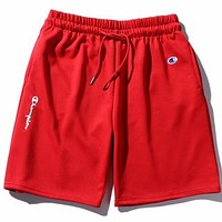 Champion summer men and women sports shorts casual five pants F0492-1 red